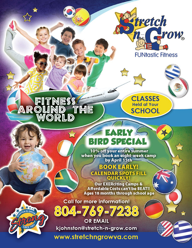 Stretch-n-Grow General: Fitness Around the World Flyer (front)