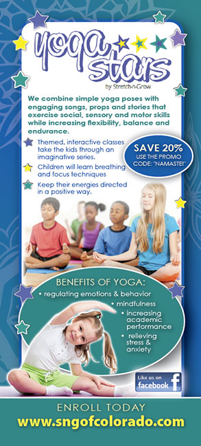 Yoga Stars: Rack Card (School Age)
