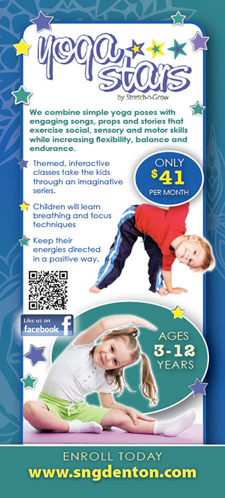 Yoga Stars: Rack Card (Preschool)