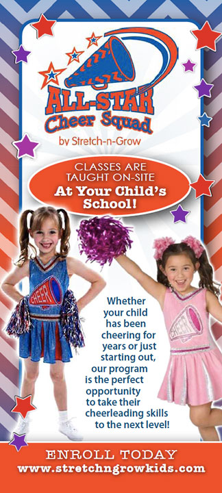 All Star Cheer Squad: Rack Card (Red)