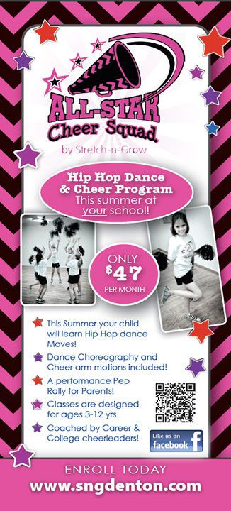 All Star Cheer Squad: Rack Card (Pink)