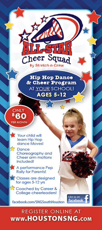 All Star Cheer Squad: Rack Card (Blue)